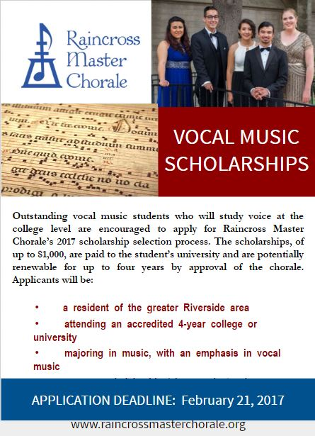 A flyer for the scholarship program.